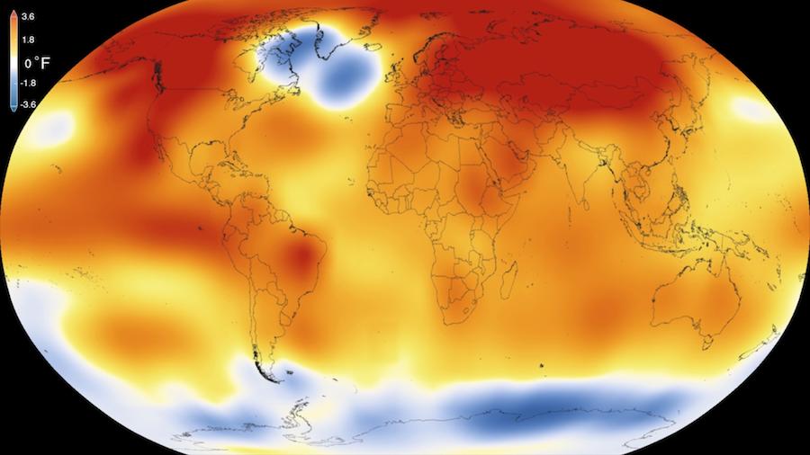 kuldeboblen i nordatlanteren 2015. foto: NASA