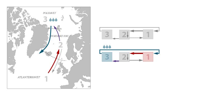 Stommels modell utvidet med Polhavet under klimaendring