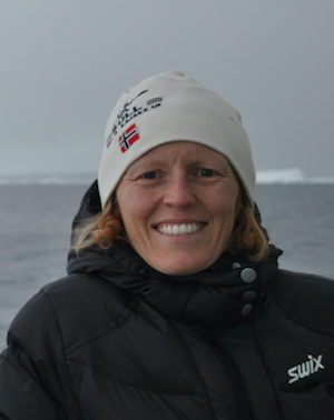 Elin Darelius in Antarctica