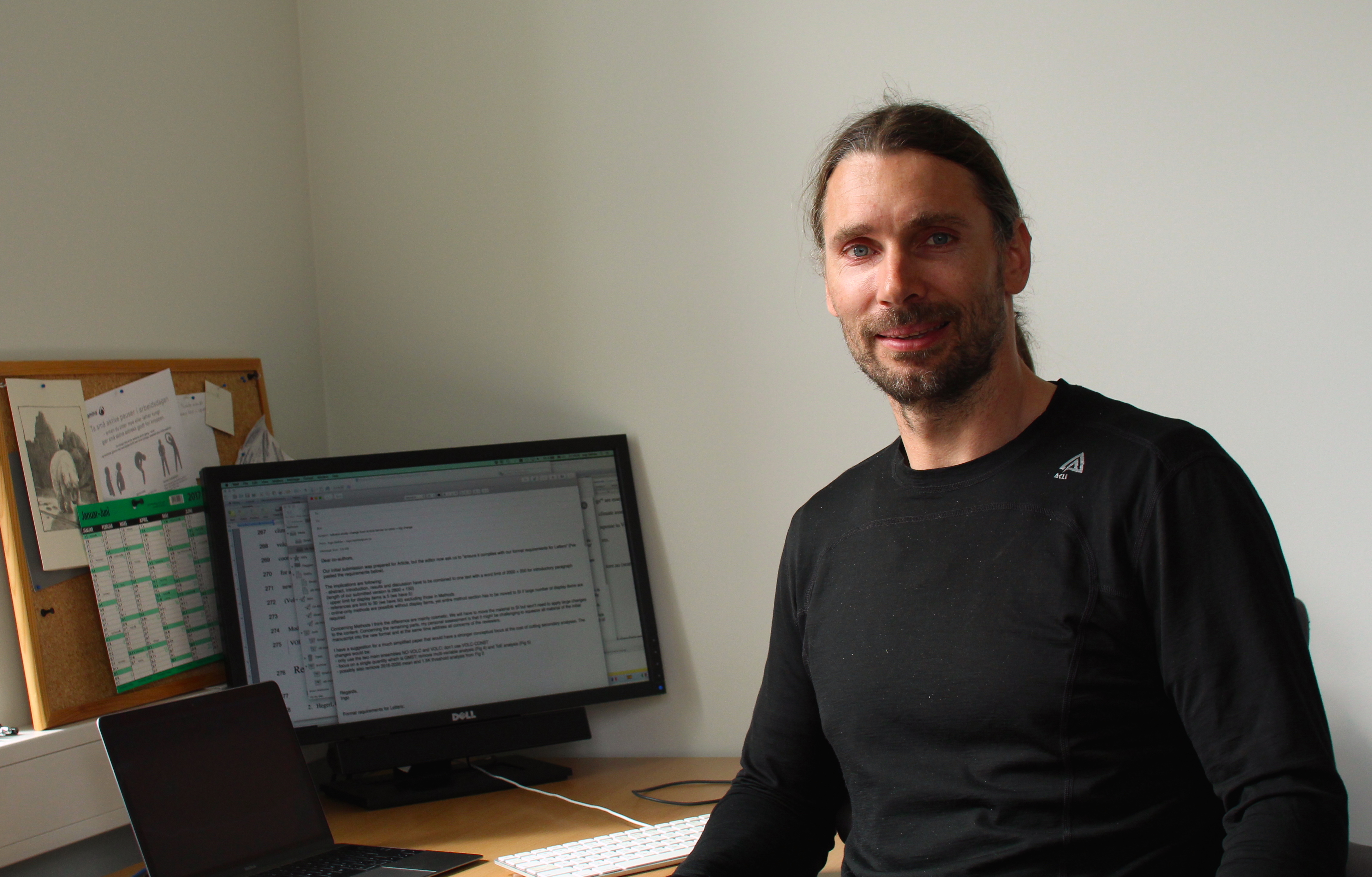 Ingo Bethke på kontoret