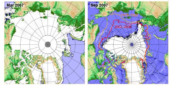 Kart over sjøis