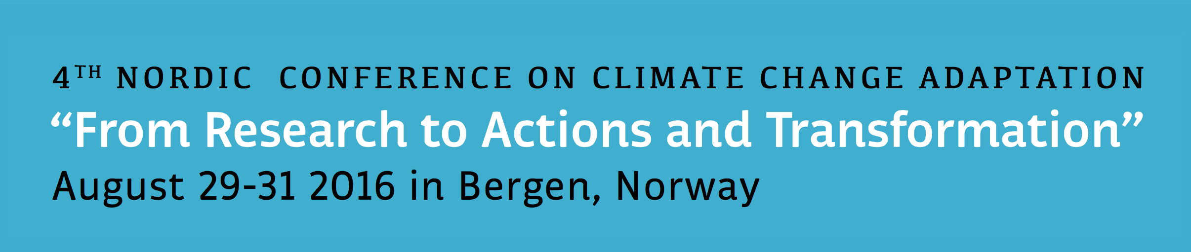 4th Nordic Conference on Climate Change Adaptation - banner