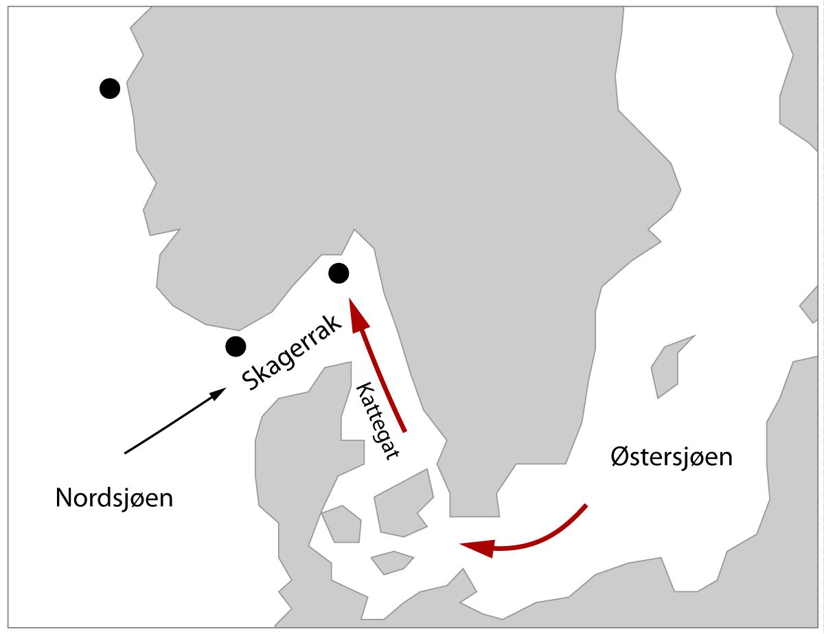 Sedimentkjerner i Skagerrak